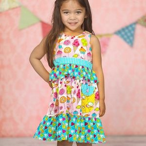 Jelly the Pug Taryn Cream Candy ice Cream Dress
